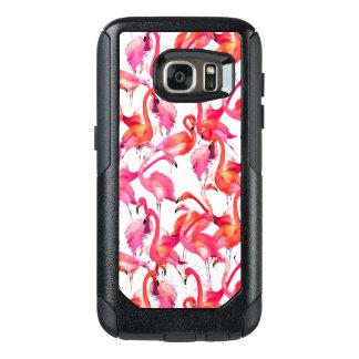 Coque OtterBox Samsung Galaxy S7 Flamants d'aquarelle dans les aquarelles