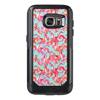 Coque OtterBox Samsung Galaxy S7 Flamants d'aquarelle recueillis