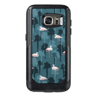 Coque OtterBox Samsung Galaxy S7 Flamants en pastel sur Teal