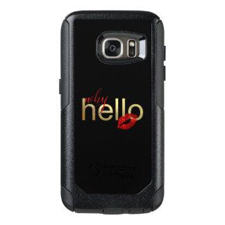 """Coque OtterBox Samsung Galaxy S7 Galaxie S """"pourquoi bonjour"""" caisse de feuille"""
