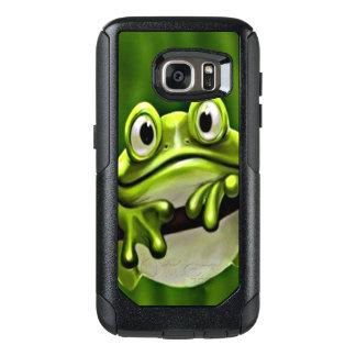 Coque OtterBox Samsung Galaxy S7 Grenouille verte de sourire mignonne drôle