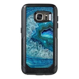 Coque OtterBox Samsung Galaxy S7 Joli motif turquoise de marbre de Geode de