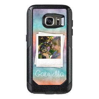 Coque OtterBox Samsung Galaxy S7 Le batik moderne fait sur commande Ombre a marbré