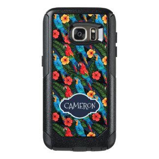 Coque OtterBox Samsung Galaxy S7 Le motif   d'ara et de ketmie ajoutent votre nom