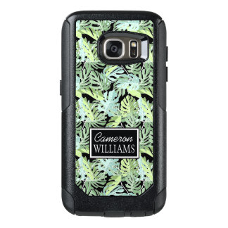 Coque OtterBox Samsung Galaxy S7 Le motif floral | de jungle ajoutent votre nom
