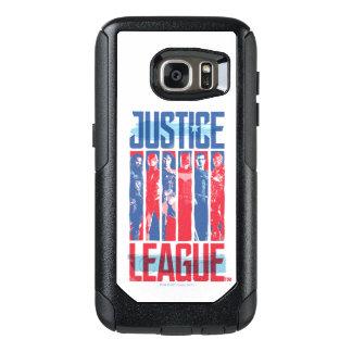 Coque OtterBox Samsung Galaxy S7 Ligue de justice art bleu et rouge de | de groupe