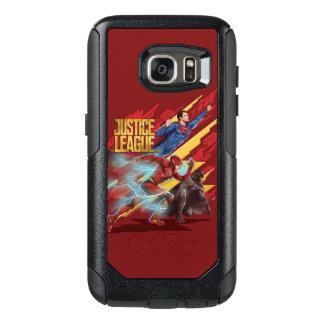 Coque OtterBox Samsung Galaxy S7 Ligue de justice | Superman, éclair, et insigne de