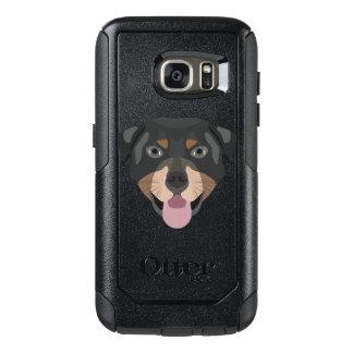 Coque OtterBox Samsung Galaxy S7 L'illustration poursuit le rottweiler de visage