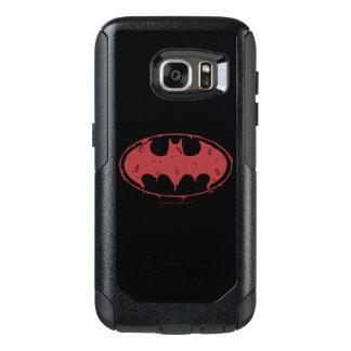 Coque OtterBox Samsung Galaxy S7 Logo de suintement de batte rouge de Batman |