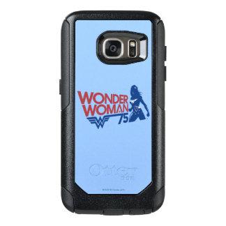 Coque OtterBox Samsung Galaxy S7 Logo rouge et bleu d'anniversaire de femme de