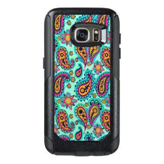 Coque OtterBox Samsung Galaxy S7 Menthe heureuse et motif orange de Paisley