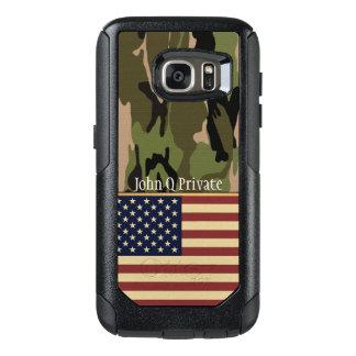 Coque OtterBox Samsung Galaxy S7 Modèle nommé de Camo de drapeau des Etats-Unis