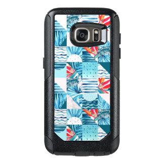 Coque OtterBox Samsung Galaxy S7 Motif abstrait géométrique turquoise tropical