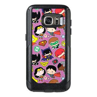 Coque OtterBox Samsung Galaxy S7 Motif de ligue de justice de Chibi sur le pourpre