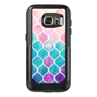 Coque OtterBox Samsung Galaxy S7 Motif en pastel de Quatrefoil