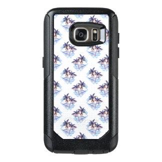Coque OtterBox Samsung Galaxy S7 Motif géométrique pourpre de palmier d'aquarelle