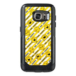 Coque OtterBox Samsung Galaxy S7 Motif jaune de rayures de M. Happy |