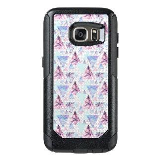 Coque OtterBox Samsung Galaxy S7 Motif rose et bleu d'aquarelle de palmier