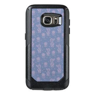 Coque OtterBox Samsung Galaxy S7 Motif rose et pourpre de cactus de bande dessinée