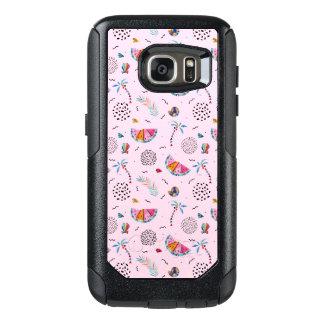 Coque OtterBox Samsung Galaxy S7 Motif rose tropical de style de Memphis