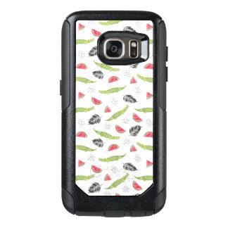 Coque OtterBox Samsung Galaxy S7 Motif tropical de pastèque et de crocodile