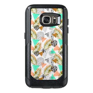 Coque OtterBox Samsung Galaxy S7 Motif tropical géométrique abstrait de feuille
