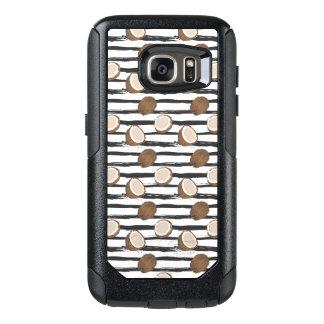 Coque OtterBox Samsung Galaxy S7 Noix de coco sur le motif grunge de rayures