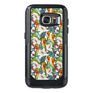 Coque OtterBox Samsung Galaxy S7 Oiseau et motif de fleur exotique