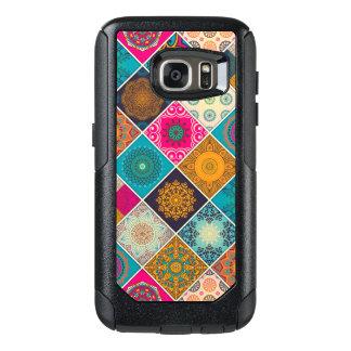 Coque OtterBox Samsung Galaxy S7 Patchwork de Bohème coloré de mandala