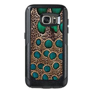 Coque OtterBox Samsung Galaxy S7 Plumes de faisan de paon d'Ombre
