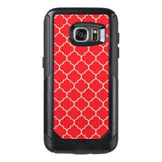 Coque OtterBox Samsung Galaxy S7 Quatrefoil rouge et blanc