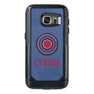 Coque OtterBox Samsung Galaxy S7 Symbole de cyborg de brosse et d'image tramée de