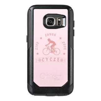 Coque OtterBox Samsung Galaxy S7 Texte de Live Laugh Love Cycle de Madame (rose)