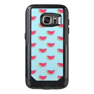 Coque OtterBox Samsung Galaxy S7 Tranches de pastèque sur le motif turquoise