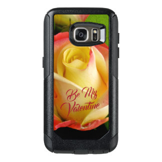 Coque OtterBox Samsung Galaxy S7 Valentines romantiques jaune et rose de rose