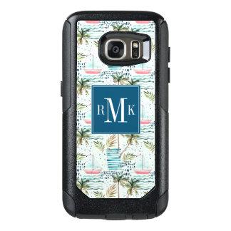 Coque OtterBox Samsung Galaxy S7 Voilier d'aquarelle avec le motif de palmier
