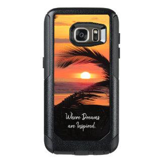 Coque OtterBox Samsung Galaxy S7 Vue tropicale de plage de coucher du soleil