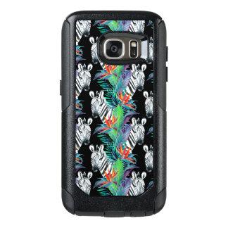 Coque OtterBox Samsung Galaxy S7 Zèbre et motif de fleurs exotique