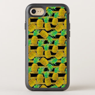 Coque OtterBox Symmetry iPhone 8/7 Ananas d'or sur des rayures