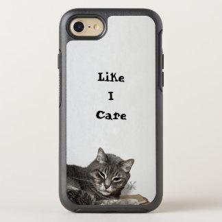 Coque OtterBox Symmetry iPhone 8/7 Anniversaire drôle gris de chat tigré
