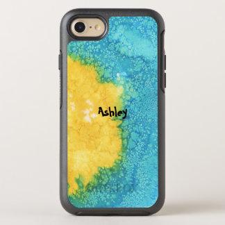 Coque OtterBox Symmetry iPhone 8/7 Aquarelle bleue/jaune