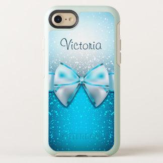 Coque OtterBox Symmetry iPhone 8/7 Arc blanc bleu de parties scintillantes élégant