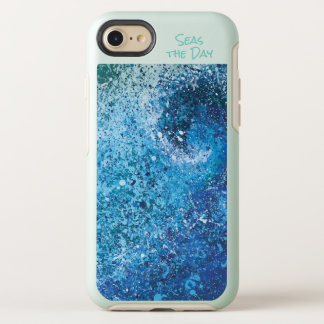 Coque OtterBox Symmetry iPhone 8/7 Art abstrait de vague côtière de plage