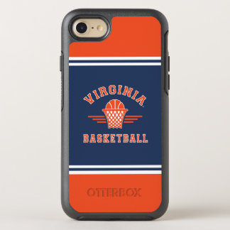 Coque OtterBox Symmetry iPhone 8/7 Basket-ball du logo | de cavaliers de la Virginie