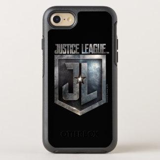 Coque OtterBox Symmetry iPhone 8/7 Bouclier métallique de la ligue de justice | JL