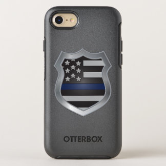 Coque OtterBox Symmetry iPhone 8/7 Cas mince de l'iPhone 7 de Blue Line