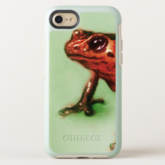 Coque OtterBox Symmetry iPhone 8/7 cas vintage d'iPhone - grenouille