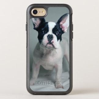 Coque OtterBox Symmetry iPhone 8/7 Chiot de bouledogue français à l'attention
