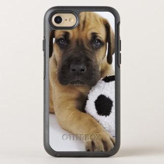 Coque OtterBox Symmetry iPhone 8/7 Chiot de great dane avec du ballon de football de