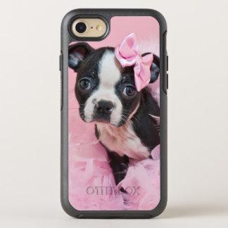 Coque OtterBox Symmetry iPhone 8/7 Chiot mignon superbe de Boston Terrier portant un